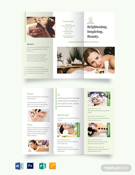 Spa Service Tri-fold Brochure Template