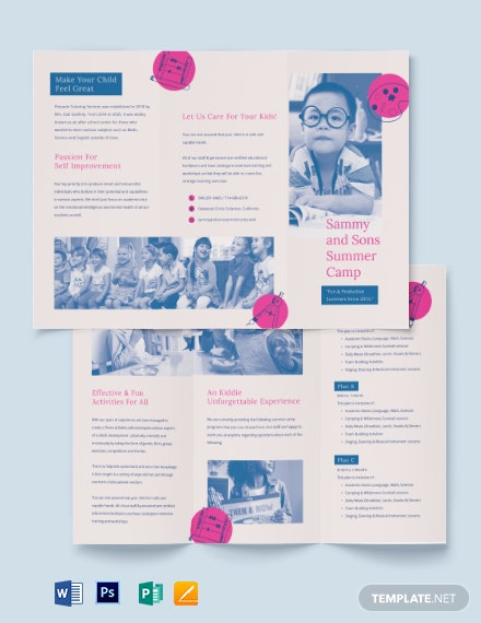 Summer School Tri-fold Brochure Template