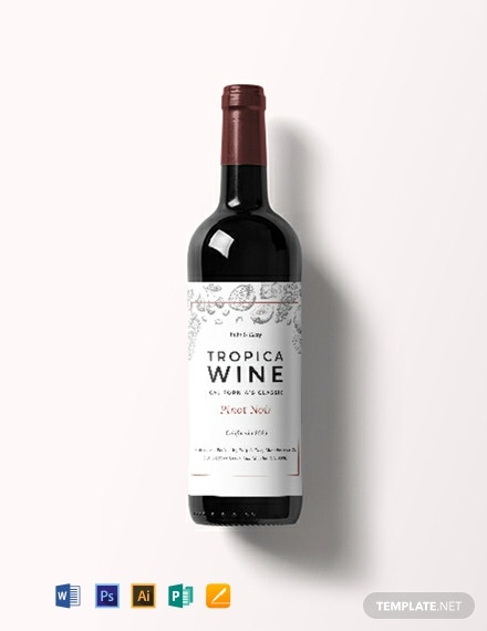 Free Classic Wine Bottle Label Template