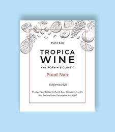 Classic Wine Bottle Label Template