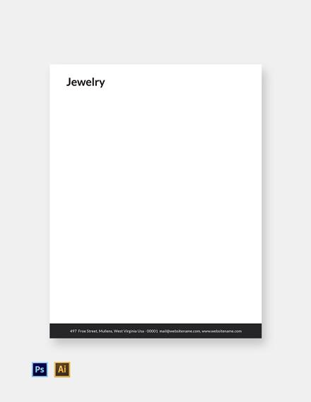 Free Jewelry Letterhead Template