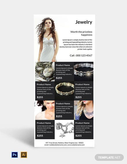 Free Jewelry Rack Card Template