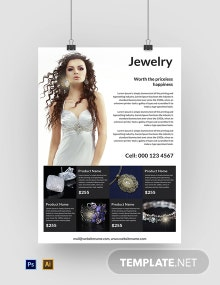 Free Jewelry Poster Template