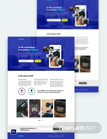 App launching Soon PSD Landing Page Template