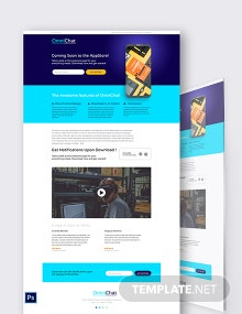 Coming Soon App PSD Landing Page Template