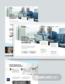 Consulting App PSD Landing Page Template