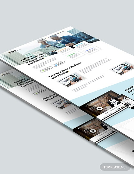 Sample Consulting App PSD Landing Page