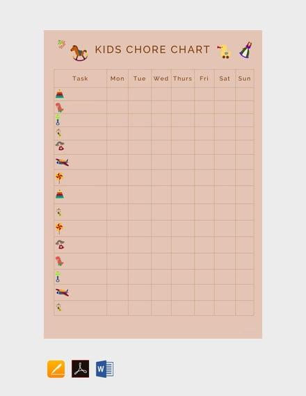Kid's Chore Chart Template