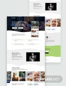 Photography App PSD Landing Page Template