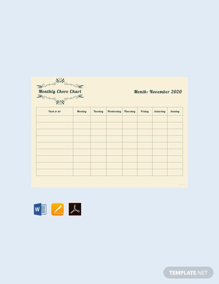 free monthly chore chart template 440x570 1