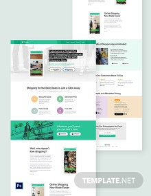 Shopping App PSD Landing Page Template