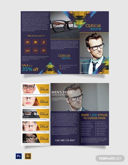 Free Optical Store TriFold Brochure
