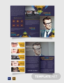Free Optical Store Tri-Fold Brochure Template