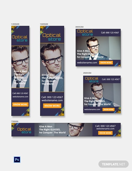 Free Optical Store Banner Ads Template