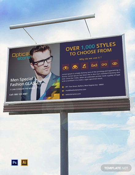 Optical Store Billboard Template