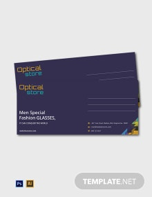 Free Optical Store Envelope Template