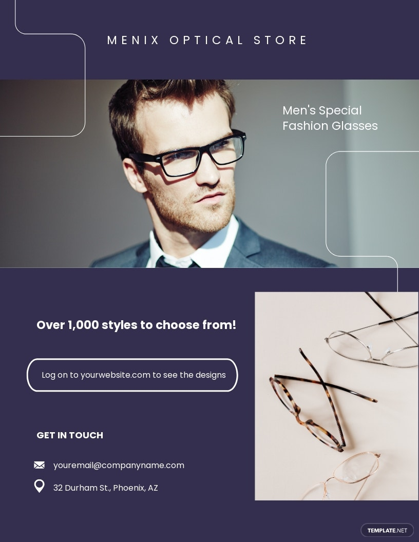 Free Optical Store Flyer Template.jpe