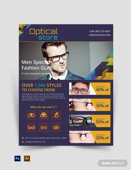 Free Optical Store Flyer