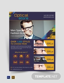Free Optical Store Flyer Template