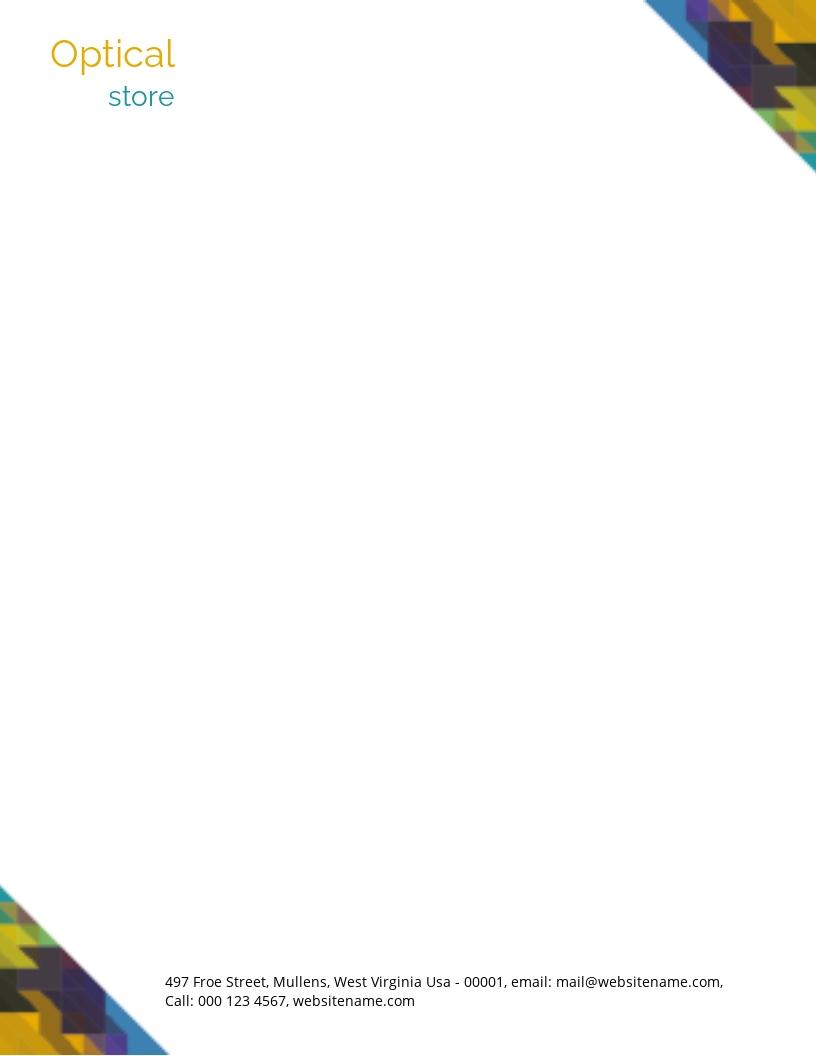 Free Optical Store Letterhead Template.jpe