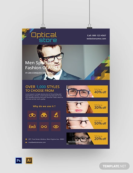 Free Optical Store Poster Template