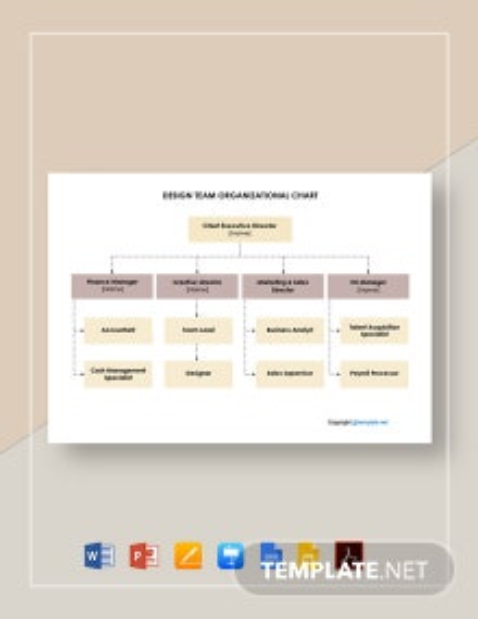 Free Design Team Organizational Chart Template