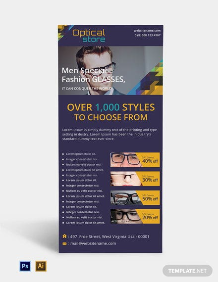 Optical Store Rack Card Template