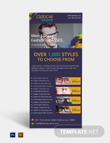 Free Optical Store Rack Card Template