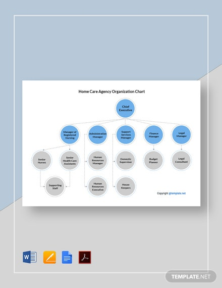 Free Home Care Agency Organization Chart Template