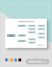 Free Home Health Agency Organization Chart template