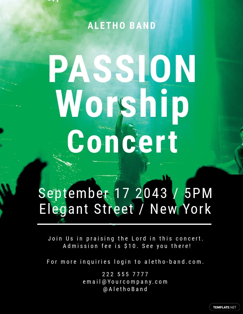 Free Passion Worship Conference Flyer Template.jpe