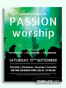Passion Worship Conference Flyer Template