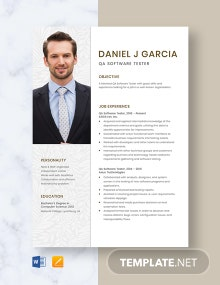 QA Software Tester Resume Template