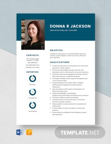 Qualified English Teacher Resume Template