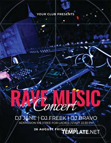 Rave Music Concert Flyer Template