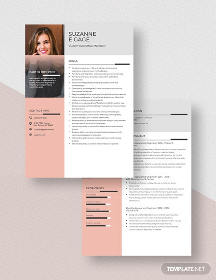 Quality Assurance Engineer Resume Download
