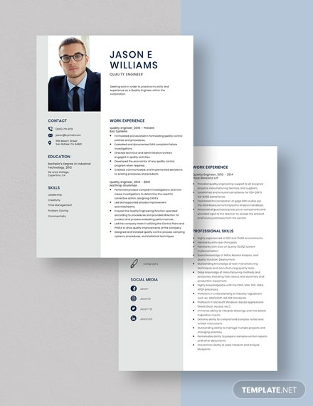 Quality Engineer Resume Download