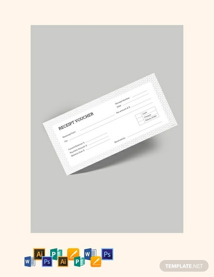 Free Receipt Voucher Template Download 85 Vouchers In Psd