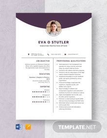 Radiation Protection Officer Resume Template