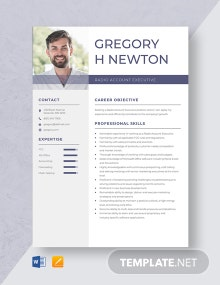 Radio Account Executive Resume Template