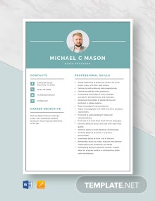 Radio Producer Resume Template