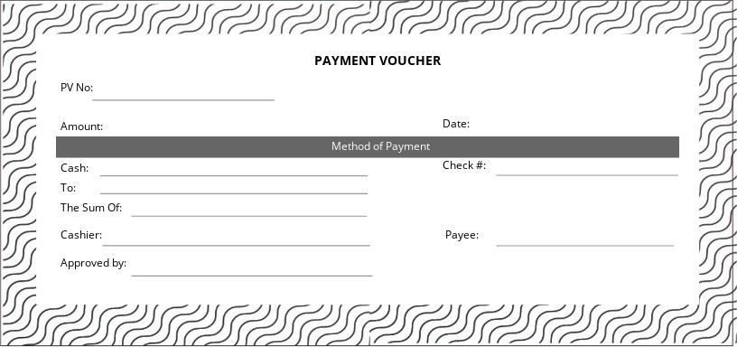 Sample Payment Voucher Template
