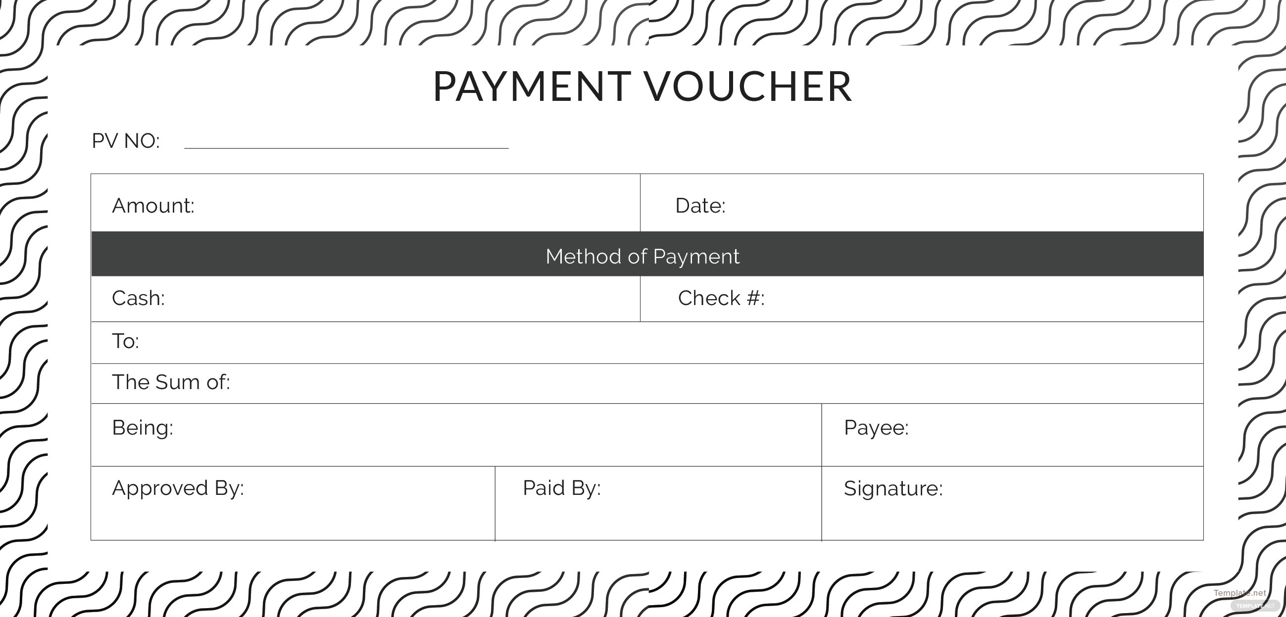 free template of payment voucher