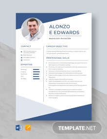 Radiology Physician Resume Template