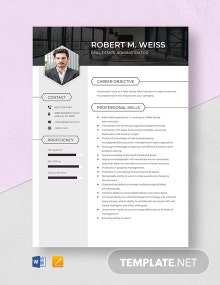 Real Estate Administrator Resume Template