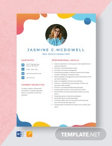 Real Estate Consultant Resume Template