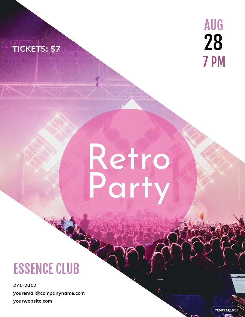 Retro Mania Flyer Template