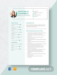 Inbound Call Center Manager Resume Template