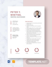 Industrial Sales Manager Resume Template