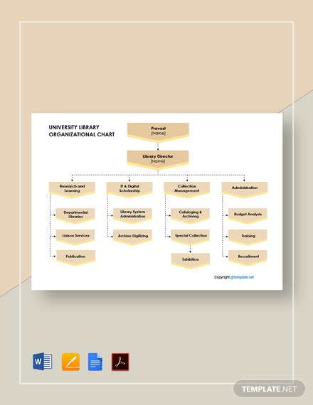 Free University Library Organizational Chart Template